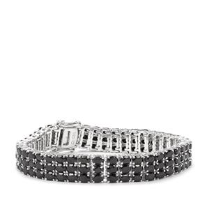 Black Spinel Bracelet in Sterling Silver 29.67cts