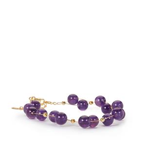 Bahia Amethyst Bracelet in Gold Tone Sterling Silver 56cts