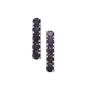 Bengal Iolite Earrings in Sterling Silver 2.48cts
