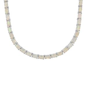 Ethiopian Opal Necklace in Sterling Silver 13.65cts