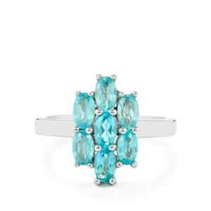 1.83ct Madagascan Blue Apatite Sterling Silver Ring
