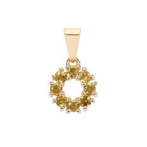 0.59ct Morafeno Sphene 9K Gold Pendant
