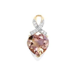 Anahi Ametrine Pendant with Zircon in 10k Gold 4.88cts