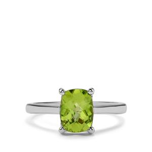 Changbai Peridot Ring in Sterling Silver 2.10cts
