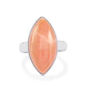 7.93ct Australian Pink Opal Sterling Silver Aryonna Ring