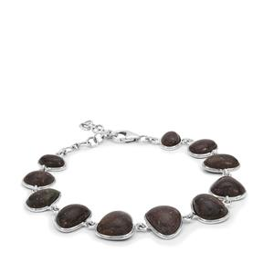 Andamooka Opal Bracelet in Sterling Silver 25.98cts