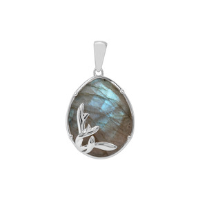 Labradorite Pendant in Sterling Silver 11.04cts