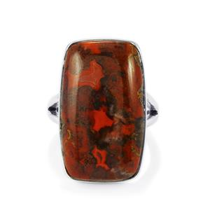 20ct Sonoreña Seam Agate Sterling Silver Aryonna Ring