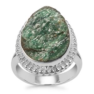 Fuchsite Drusy Ring in Sterling Silver 10cts
