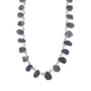 69.33ct Tanzanite Sterling Silver Aryonna Necklace