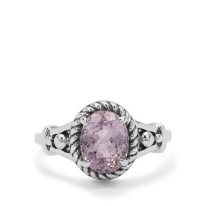 Brazilian Kunzite Ring in Sterling Silver 2.57cts