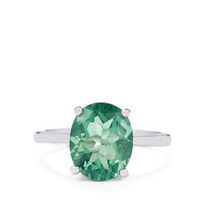 4.40ct Tucson Green Fluorite Sterling Silver Ring