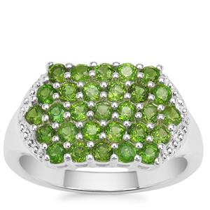 Chrome Diopside Ring in Sterling Silver 1.65cts
