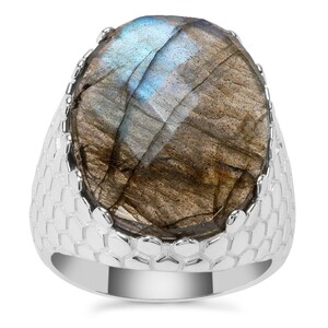 Labradorite Ring in Sterling Silver 12.18cts