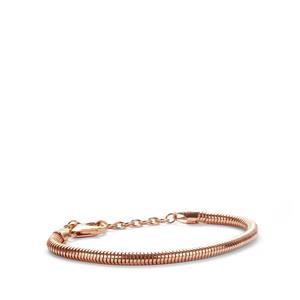 "6.5"" - 8.5"" Rose Tone Sterling Silver Kama Charms Bracelet"