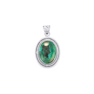 Chrysocolla Pendant in Sterling Silver 19cts