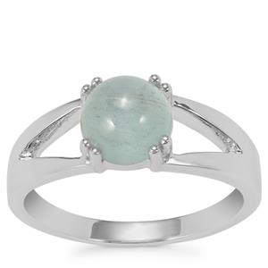 Aquamarine Ring in Sterling Silver 1.54cts