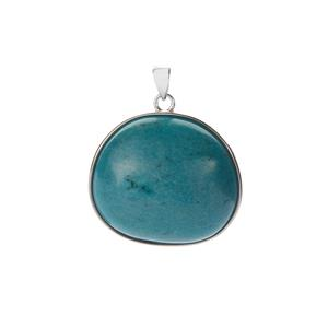 Green Howlite Pendant in Sterling Silver 26.41cts