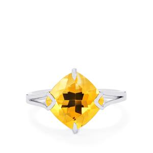 3.93ct Diamantina Citrine Sterling Silver Centuple Ring