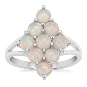Ethiopian Opal Ring in Sterling Silver 1.56cts