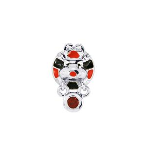 Mozambique Garnet Kama Charm in Sterling Silver 0.16cts
