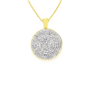 Diamond Slider Pendant Necklace in Gold Vermeil 1.05cts