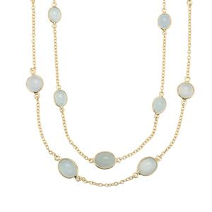 Aquamarine Necklace in Gold Plated Sterling Silver 21.98cts