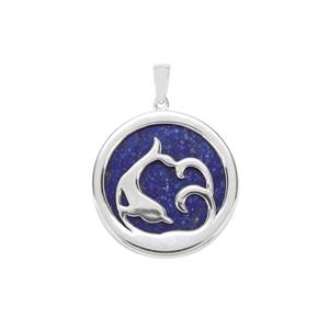 Sar-i-Sang Lapis Lazuli Pendant in Sterling Silver 25.34cts