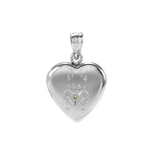 Diamond Sterling Silver Locket