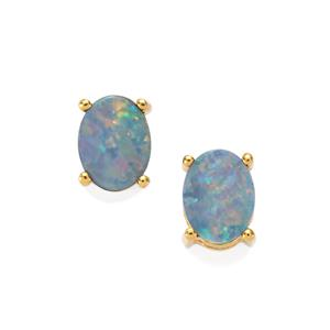 Boulder Opal Earrings in Gold Plated Sterling Silver