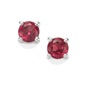0.62ct Octavian Garnet Sterling Silver Earrings
