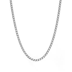 "20"" Sterling Silver Tempo Flat Rambo Chain 4.96g"