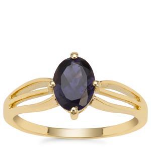 Bengal Iolite Ring in 9K Gold 1ct