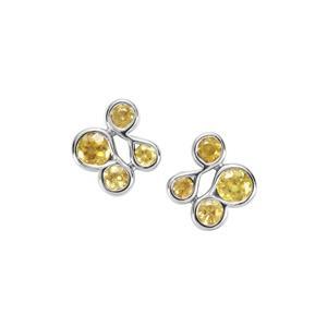 Ambilobe & Morafeno Sphene Sterling Silver Earrings ATGW 1.20cts