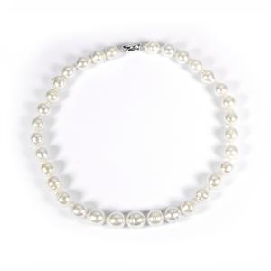 South Sea Cultured Pearl Necklace in Sterling Silver (12x11mm)