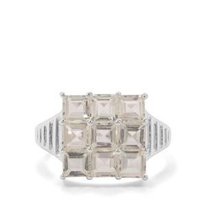 3.38ct Serenite Sterling Silver Ring