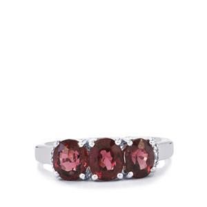 Burmese Multi-Colour Spinel Ring with White Zircon in Sterling Silver 2.86cts
