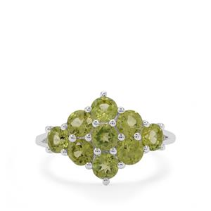 Red Dragon Peridot Ring in Sterling Silver 2.55cts