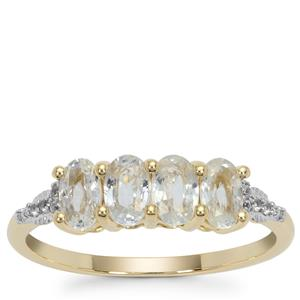Ceylon White Sapphire Ring in 9K Gold 1.28cts