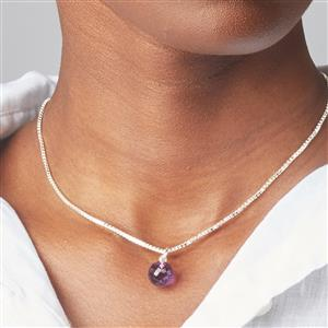 Molte Amethyst Ball Charm in Sterling Silver