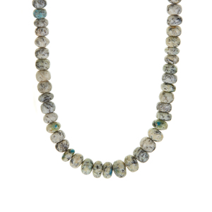K2 Jasper Nugget Bead Necklace in Sterling Silver 207.91cts