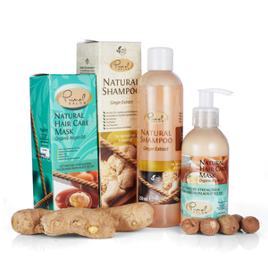 Natural Ginger Oil Shampoo Set with Hair Care Mask