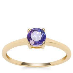 AA Tanzanite Ring in 9K Gold 0.63ct