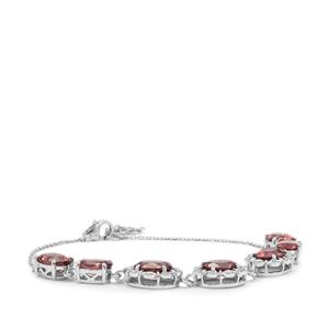 Zanzibar Zircon Bracelet with Diamond in 18K White Gold 12.19tcs