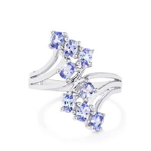 1.27ct Tanzanite Sterling Silver Ring