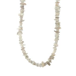 Grey Moonstone Nuggets Bead Necklace 500cts