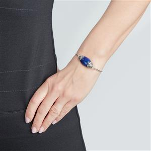 Lapis Lazuli Bracelet in Sterling Silver 21.17cts