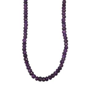 Zambian Amethyst Graduated Bead Necklace in Sterling Silver 81.50cts