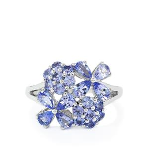 2.64ct AA Tanzanite Sterling Silver Ring
