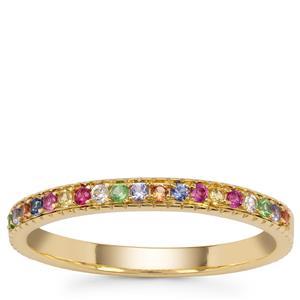 Kaleidoscope Gemstones Ring in 9K Gold 0.25ct